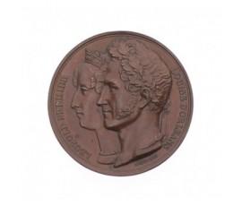 Médaille pour la visite de la Monnaie de Paris par le roi et la reine de Belgique en 1833,1833,Bronze, M10036