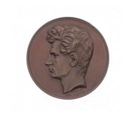Médaille d'hommage à Armand Carrel, journaliste et publiscite Français,1835,Bronze, M10037