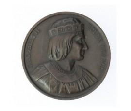 Médaille de Dagobert II - Série des rois de France,1840,Bronze, M10042