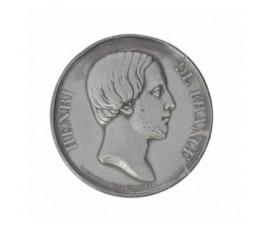 Médaille/ épreuve uniface à l'éffigie du comte de Chambord,1842,Plomb, M10045