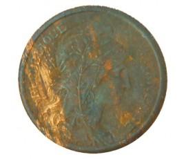 Monnaie, France , 2 centimes Daniel Dupuis, IIIème République, Bronze, 1909,, P11030