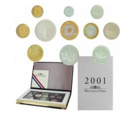 France, Boîte BE 2001, 11 pièces, C10005