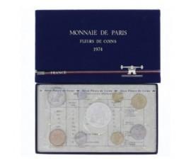 France, Boîte FDC 1974, 9 pièces, C10008