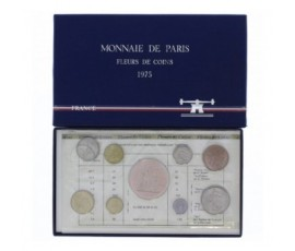 France, Boîte FDC 1975, 9 pièces, C10009