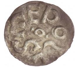 Monnaie, France , Obole bractéate, Charlemagne, Argent, 768/781, Melle, P11038