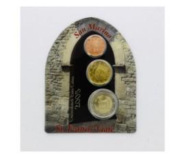 Saint-Marin, Mini set FDC Euros 2005, 3 pièces, C10090
