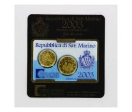 Saint-Marin, Mini set FDC Euros 2003, 2 pièces, C10093