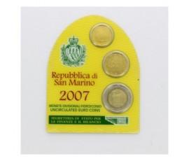 Saint-Marin, Mini set FDC Euros 2007, 3 pièces, C10094