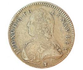 Monnaie, France , 1/2 écu aux branches d'olivier, Louis XV, Argent, 1726, Rennes (9), P11043