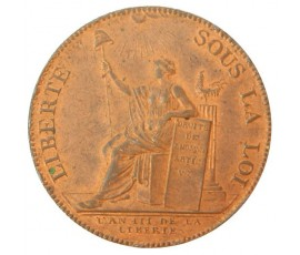 Monnaie, France , Monnaie de confiance de 2 sols, Monneron, Cuivre, 1791, Birmingham / Soho, P11047