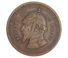 Monnaie, France , Monnaie satirique Napoléon III le petit - Bataille de Sedan, Napoléon III, Bronze, 1870,, P11049