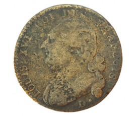 Monnaie, France , 12 deniers type françois, Louis XVI, Métal de cloche, 1792, Dijon (D.), P11051