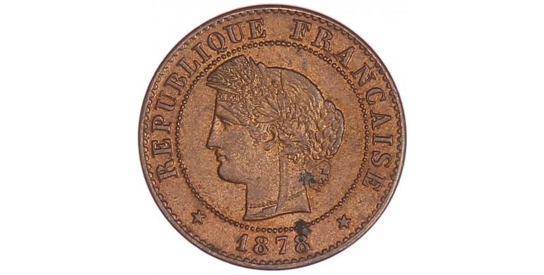 Monnaie, France , 1 centime Cérès, IIIème République, Bronze, 1878, Paris (A), P11052