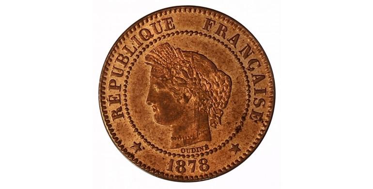 Monnaie, France , 2 centimes Cérès, IIIème République, Bronze, 1878, Paris (A), P11056