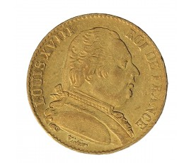 Monnaie, France , 20 francs variete 1815/4 - buste habillé, Louis XVIII, Or, 1815, Perpignan (Q), P11067