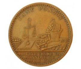 Jeton, Jeton publicitaire du magasin de la monnaie de Paris, 1767, Bronze, J10048