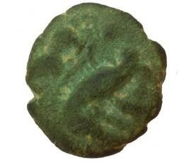 Monnaie, Gaulois, Bronze au sanglier et au cheval, Ambiani, Bronze, Ier siècle avant JC, Amiens, P10015