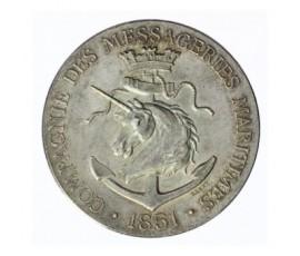 Jeton, Compagnie des messageries maritimes, 1851, Argent, J10112