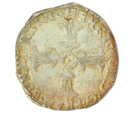 Monnaie, France , 1/4 écu croix feuillue de face, Henri IV, Argent, 1610, Bordeaux (K), P11079