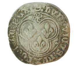 Monnaie, France , Blanc  au soleil, Louis XI, Billon, 1475, Poitiers, P11082