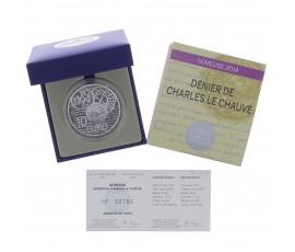 Monnaie, France, 10 Euros BE La Semeuse - le denier de 864, Monnaie de Paris, Argent, 2014, Pessac, P13064