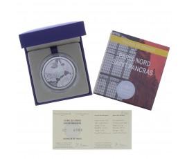 Monnaie, France, 10 Euros BE Gares du Nord et St Pancras , Monnaie de Paris, Argent, 2013, Pessac, P13065