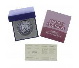 Monnaie, France, 10 Euros BE Charles le Chauve, Monnaie de Paris, Argent, 2011, Pessac, P13095
