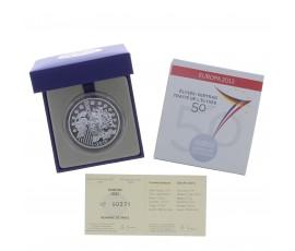 Monnaie, France, 10 Euros BE 50 ans du Traité de l'Elysée, Monnaie de Paris, Argent, 2013, Pessac, P13111