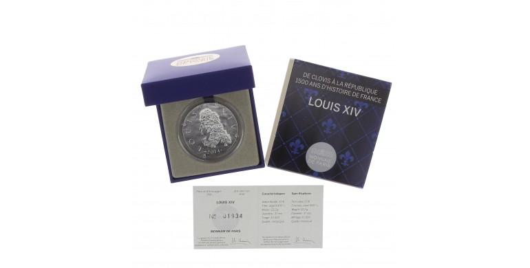 Monnaie, France, 10 Euros BE Louis XIV, Monnaie de Paris, Argent, 2014, Pessac, P13118