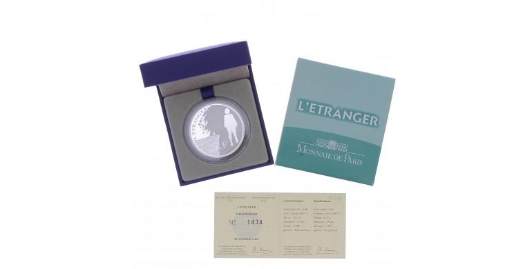 """Monnaie, France, 10 Euros BE Meursault (""""L'étranger"""" de Albert Camus), Monnaie de Paris, Argent, 2011, Pessac, P13130"""