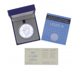 Monnaie, France, 10 Euros BE Louis XI, Monnaie de Paris, Argent, 2013, Pessac, P13135