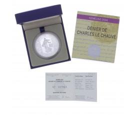 Monnaie, France, 10 Euros BE Monnaies françaises: le denier de 864 , Monnaie de Paris, Argent, 2014, Pessac, P13141