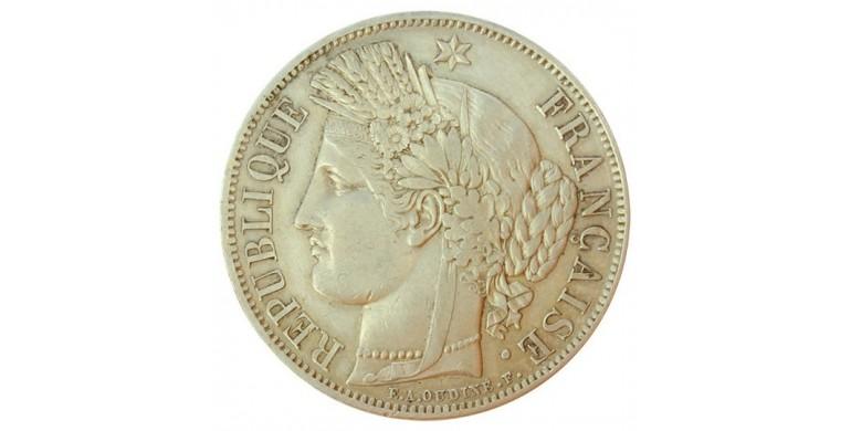 Monnaie, France , 5 francs Cérès, IIème République, Argent, 1849, Paris (A), P11115