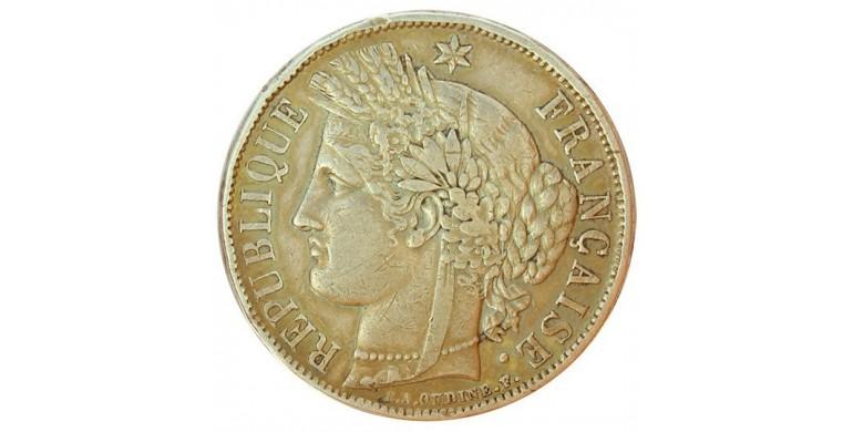 Monnaie, France , 5 francs Cérès, Gouvernement de défense nationale, Argent, 1870, Paris (A), P11118