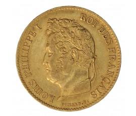 Monnaie, France , 40 francs, Louis-Philippe Ier, Or, 1834, Bayonne (L), P11126