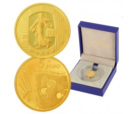 Monnaie, France , 5 € BE semeuse 10 ans du starter kit, Monnaie de Paris, Or, 2011, Pessac, P11142