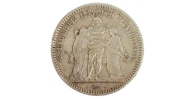 Monnaie, France , 5 francs Hercule, IIème République, Argent, 1849, Paris (A), P11147