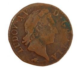 Monnaie, France , 1/2 sol à la vieille tête, Louis XV, Cuivre, 1770, Lyon (D), P11210